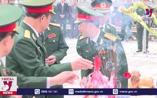 Điện Biên đón hài cốt liệt sĩ hy sinh tại Lào