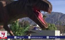 Triển lãm mô hình khủng long ngoài trời thu hút nhiều du khách