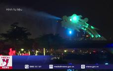 Cầu Rồng Đà Nẵng phun nước, phun lửa dịp Tết