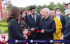 Tổng Bí thư, Chủ tịch nước dâng hương và trồng cây lưu niệm tại Hoàng Thành Thăng Long