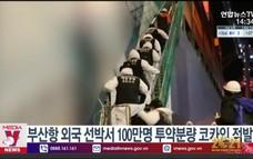 Cảnh sát biển Hàn Quốc thu giữ một lượng ma túy lớn
