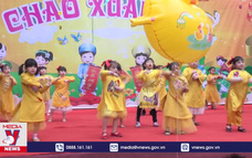 Học sinh Nghệ An vui Tết cổ truyền dân tộc