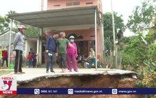 Xuất hiện sụt lún đất bất thường tại Tuyên Quang