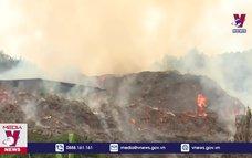 Cháy xưởng chế biến quế tại Bảo Thắng, Lào Cai