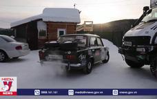 Cuộc đua mô tô trên băng tại hồ Baikal