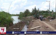 Khẩn trương khắc phục tình trạng sạt lở trên sông Cái Bè