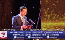 Sao Thái Dương đạt giải vàng chất lượng quốc gia 2020