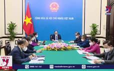 Chủ tịch nước Nguyễn Xuân Phúc nhắc lại lời mời Tổng thống Pháp E. Macron thăm Việt Nam
