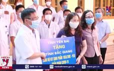 Đoàn nhân viên y tế Yên Bái lên đường hỗ trợ Bắc Giang chống dịch COVID-19
