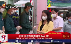 Phó Chủ tịch nước bầu cử tại TP. Long Xuyên, tỉnh An Giang