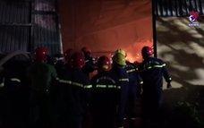 Cháy lớn tại nhà kho trong khu công nghiệp Phú Bài