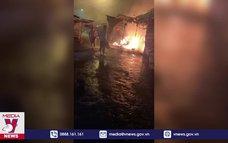 Cháy chợ thị xã Long Mỹ, thiệt hại hơn 900 triệu đồng