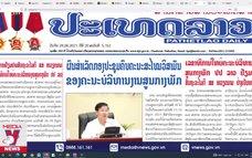 Báo chí Lào ca ngợi chuyến thăm Việt Nam của Tổng Bí thư, Chủ tịch nước Lào