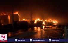 Quảng Ninh: Cháy lớn tại xưởng lốp ô tô rộng hơn 4.000m2