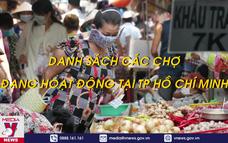Danh sách các chợ đang hoạt động tại Thành phố Hồ Chí Minh