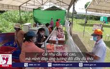 Mô hình chợ dã chiến giúp người dân đi chợ thuận lợi, an toàn