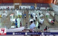 Điểm tiêm chủng dã chiến ở Hà Nội