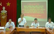 Kiểm tra an toàn thực phẩm tại tỉnh Vĩnh Long