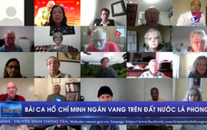 Bài ca Hồ Chí Minh ngân vang trên đất nước lá phong
