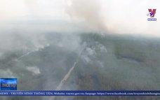 Cháy rừng ở huyện Hòn Đất được khống chế hoàn toàn