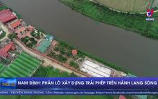 Phân lô xây dựng trái phép trên hành lang sông
