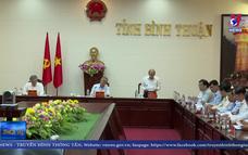 Thường trực Ban Bí thư làm việc tại Bình Thuận