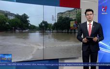 Mưa lớn gây ngập úng tại thành phố Vĩnh Yên