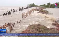 Đê biển Tây Kiên Giang bị sạt lở nghiêm trọng