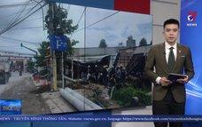Xe ben tông sập 3 nhà dân, nhiều người bị thương