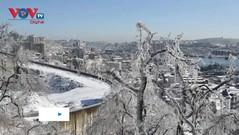 """Thành phố viễn Đông nước Nga Vladivostok biến thành """"xứ sở băng giá"""""""