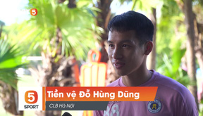Tiền vệ Đỗ Hùng Dũng: ''với Hà Nội FC, về nhì chính là thất bại''