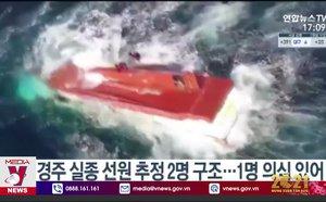 Lật tàu cá Hàn Quốc có thuyền viên Việt Nam