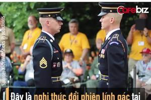 Nghi thức đổi phiên lính gác danh dự tại Nghĩa trang quốc gia Arlington