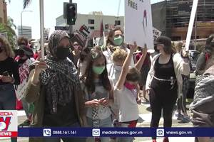 Biểu tình tại nhiều nơi phản đối bạo lực tại Dải Gaza