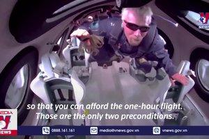 Mở bán vé tour bay vào vũ trụ