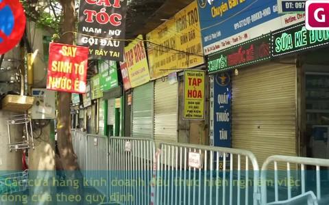 """Hàng quán quanh Bệnh viện K cơ sở Tân Triều """"cửa đóng then cài"""" phòng dịch COVID-19"""