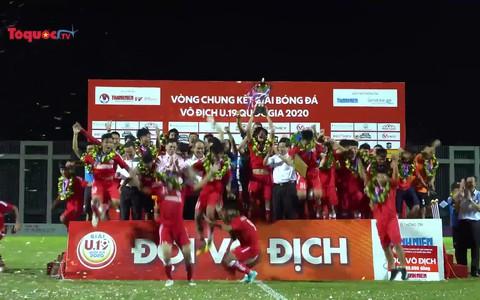 Thắng thuyết phục U19 HAGL 1 với tỉ số 2-0, U19 PVF lên ngôi vô địch