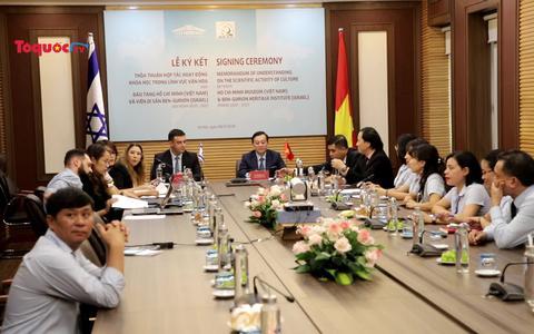 Lễ ký kết thỏa thuận tăng cường hợp tác văn hóa giữa Bảo tàng Hồ Chí Minh và Viện Di sản Ben Gurion