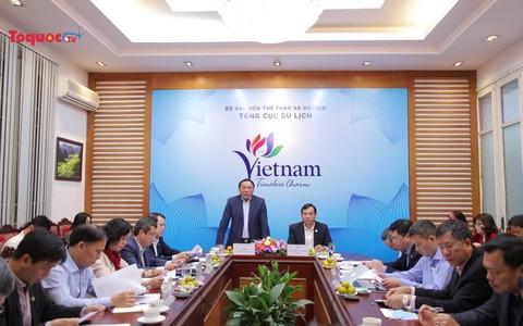 Thứ trưởng Bộ VHTTDL Nguyễn Văn Hùng làm việc với Tổng cục Du lịch về việc triển khai Kế hoạch công tác năm 2021
