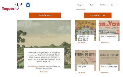 Thư viện số Pháp - Việt: nơi chứa đựng di sản tư liệu quý hiếm về Đông Dương
