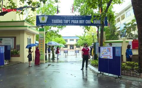 Các lực lượng đảm bảo an toàn cho thí sinh, tiếp sức cho kỳ thi vào lớp 10