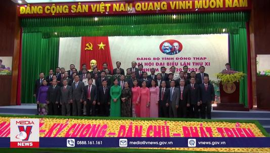 Bế mạc Đại hội Đại biểu Đảng bộ tỉnh Đồng Tháp lần thứ XI