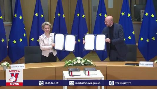 Anh và EU chính thức ký thoả thuận thương mại