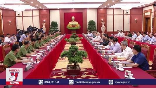 Bộ Chính trị làm việc với Ban Thường vụ Đảng ủy Công an Trung ương