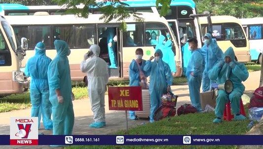 Hà Giang đón hơn 2.000 công dân từ Bắc Giang về địa phương