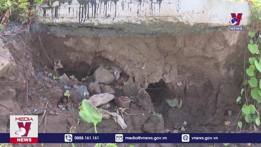 Cần xử lý dứt điểm tình trạng sạt lở bờ kè cồn Phú Đa
