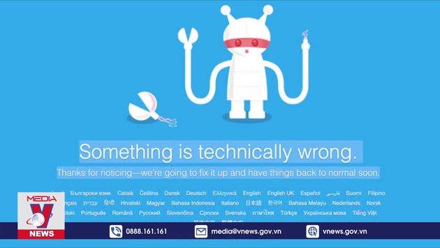 Mạng xã hội Twitter bị tê liệt trong 2 giờ
