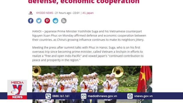 Truyền thông Nhật Bản đưa đậm chuyến thăm Việt Nam của Thủ tướng Suga