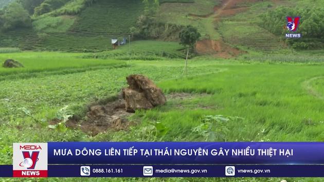 Mưa dông liên tiếp tại Thái Nguyên gây nhiều thiệt