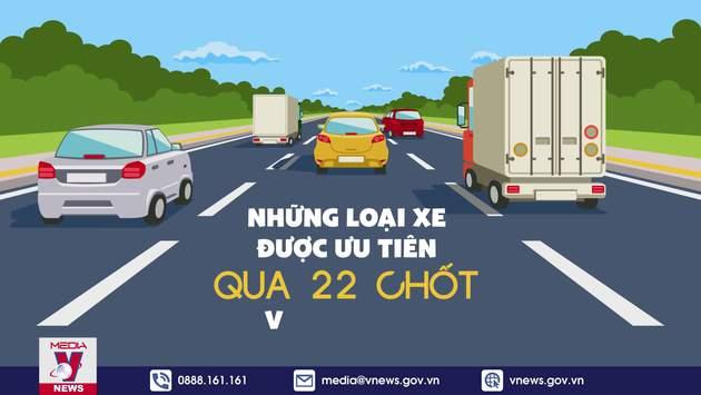 Những loại xe được ưu tiên qua 22 chốt vào Hà Nội